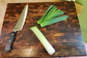 How to Clean Leeks -2