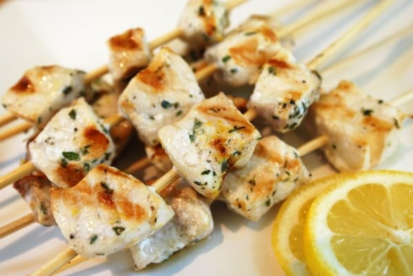 Marinated Swordfish Skewers