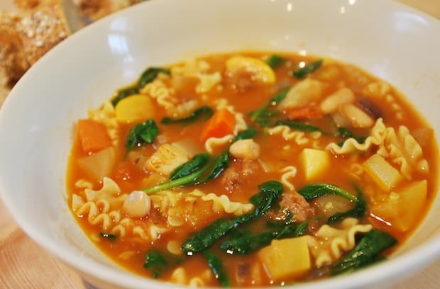 Minestrone Soup with Spicy Sausage