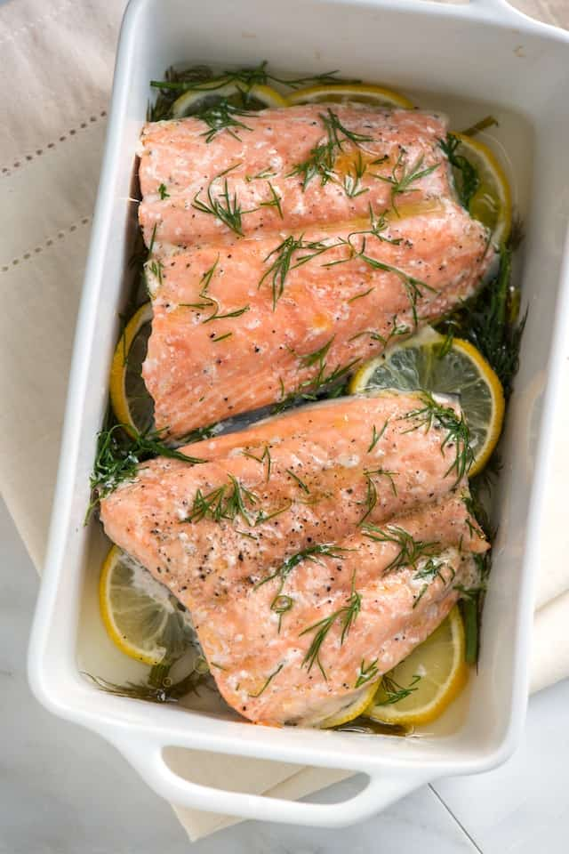 Mom's Baked Salmon with Lemon and Dill