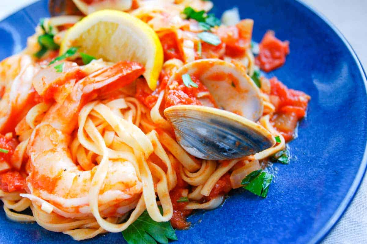 Spicy Shrimp and Clam Pasta Recipe