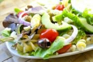 Easy Greek Salad Recipe with a Creamy Yogurt Dressing