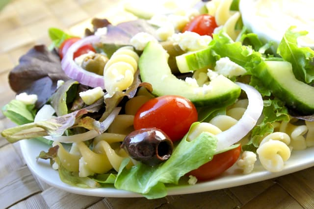 Greek Salad with a Creamy Dressing Recipe