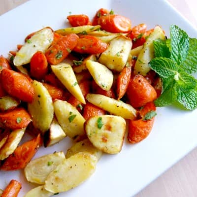 Roasted Carrots and Parsnips with Mint Recipe