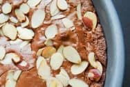 Brownie Pie Recipe with Sliced Almonds