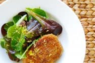 Pork Milanese Recipe with Lemon and Green Salad