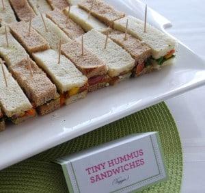 Makes 16 Tiny Sandwiches