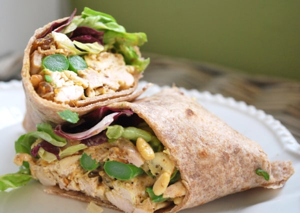 Curried Chicken Salad Wrap from inspiredtaste.net