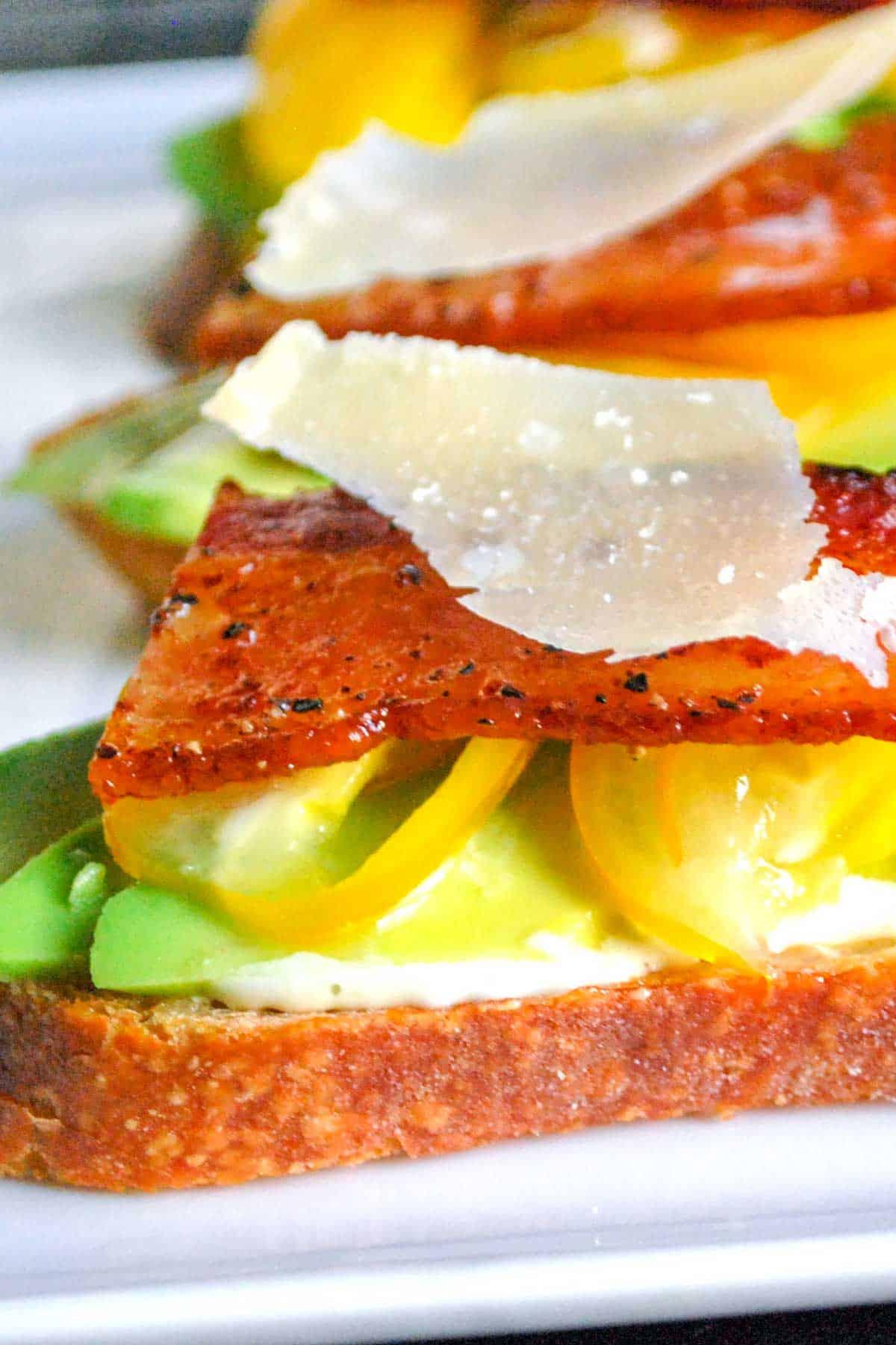 Open-Faced Sandwiches with Bacon, Tomato and Avocado