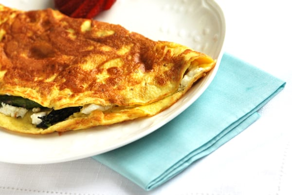 Asparagus and Goat Cheese Omelette Recipe