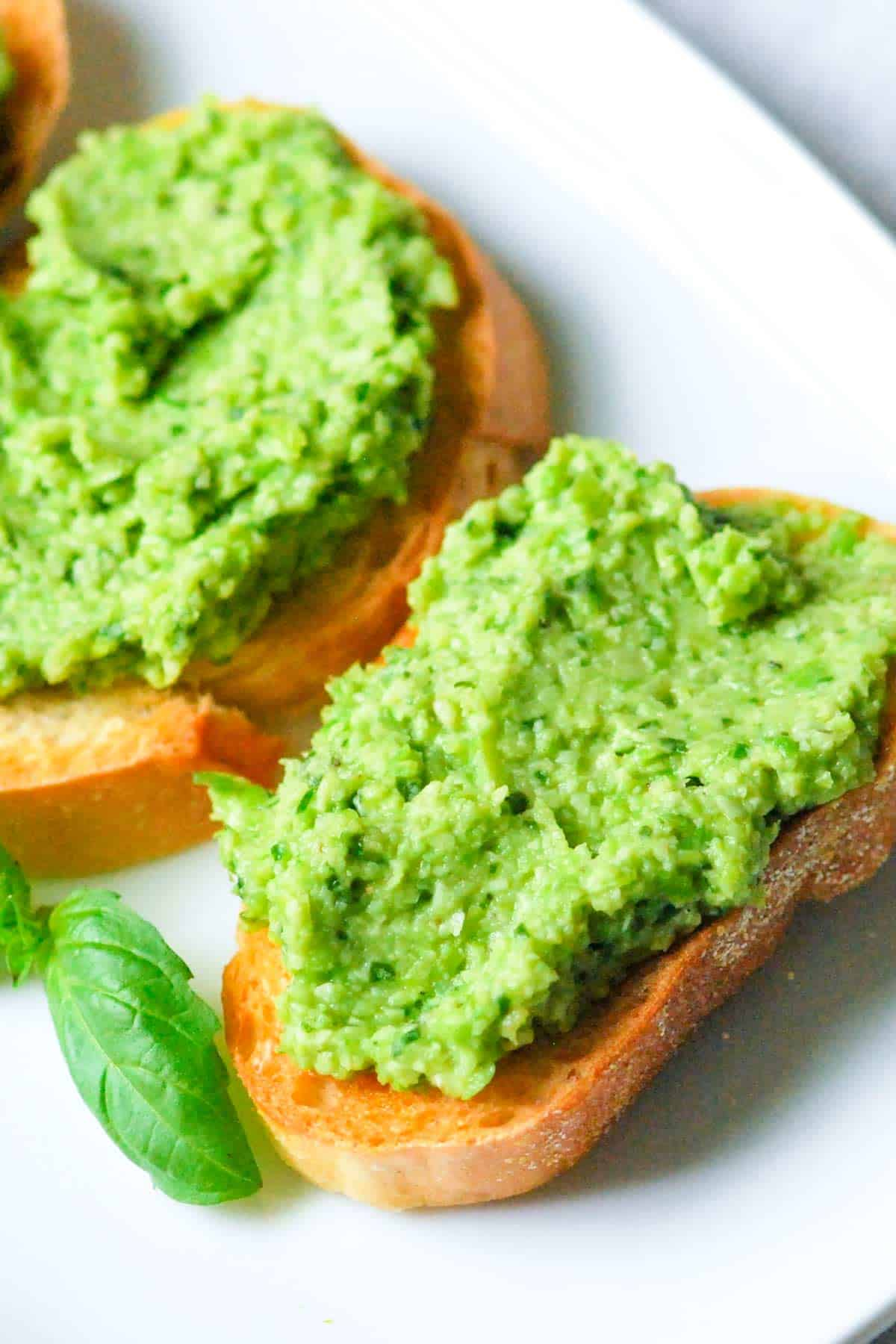 Edamame and Pea Bruschetta Recipe