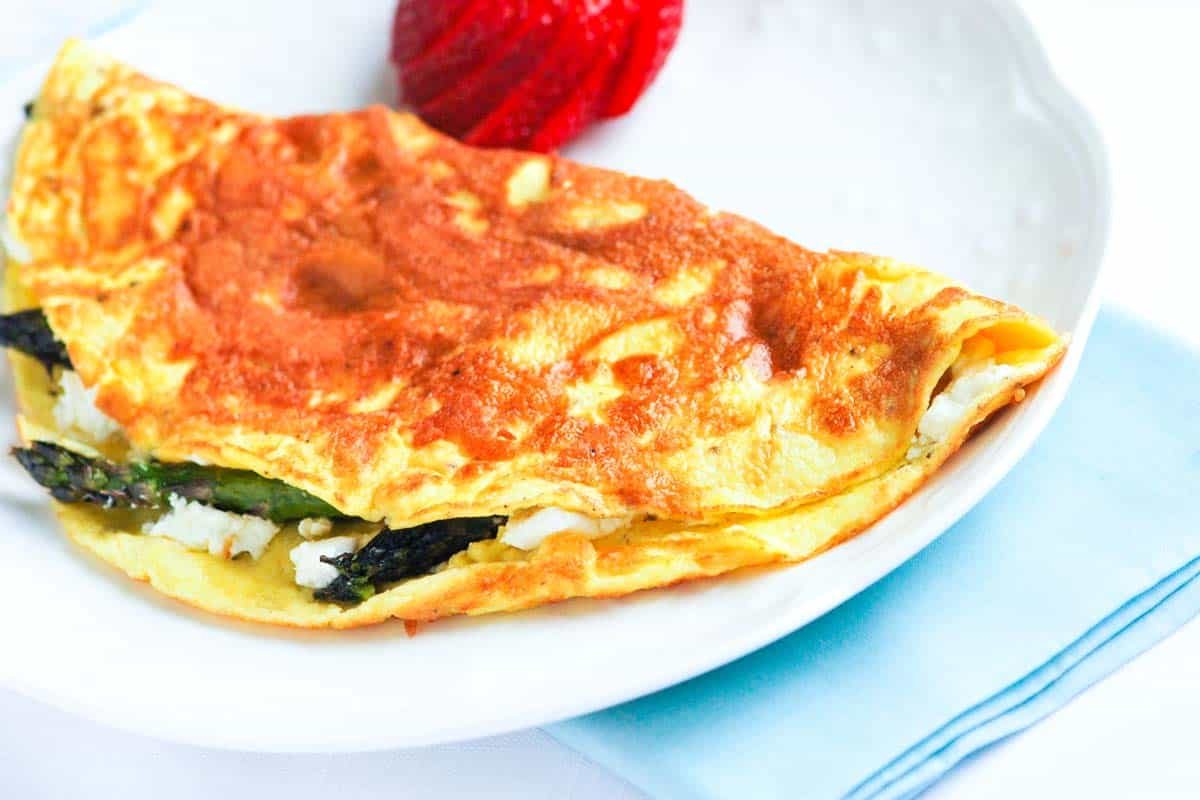 Asparagus and Goat Cheese Omelet