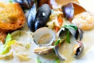 Seafood Stew with White Wine, Garlic and Fennel