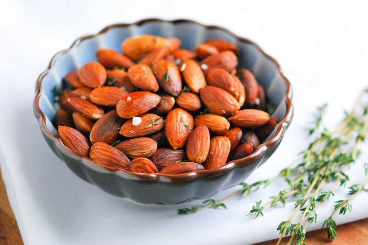 Roasted Almonds with Sea Salt and Thyme