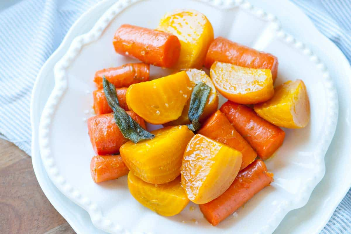 Roasted Beets and Carrots with Sage