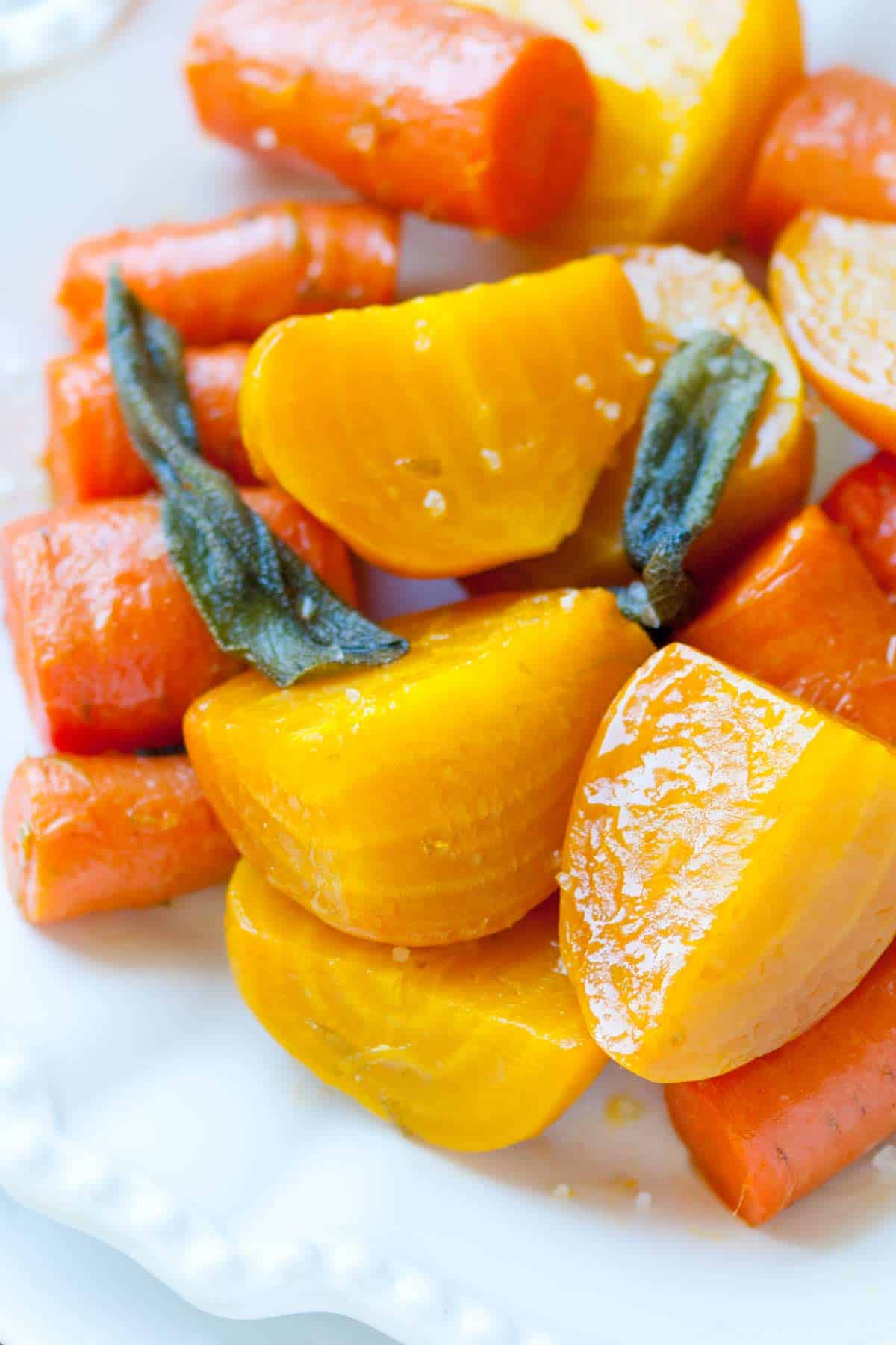 How to Roast Beets and Carrots with Sage