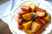 Roasted Yellow Beets and Carrots with Sage Recipe