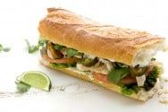 Chicken Sandwich with Lime Mayo and Pickled Jalapeños