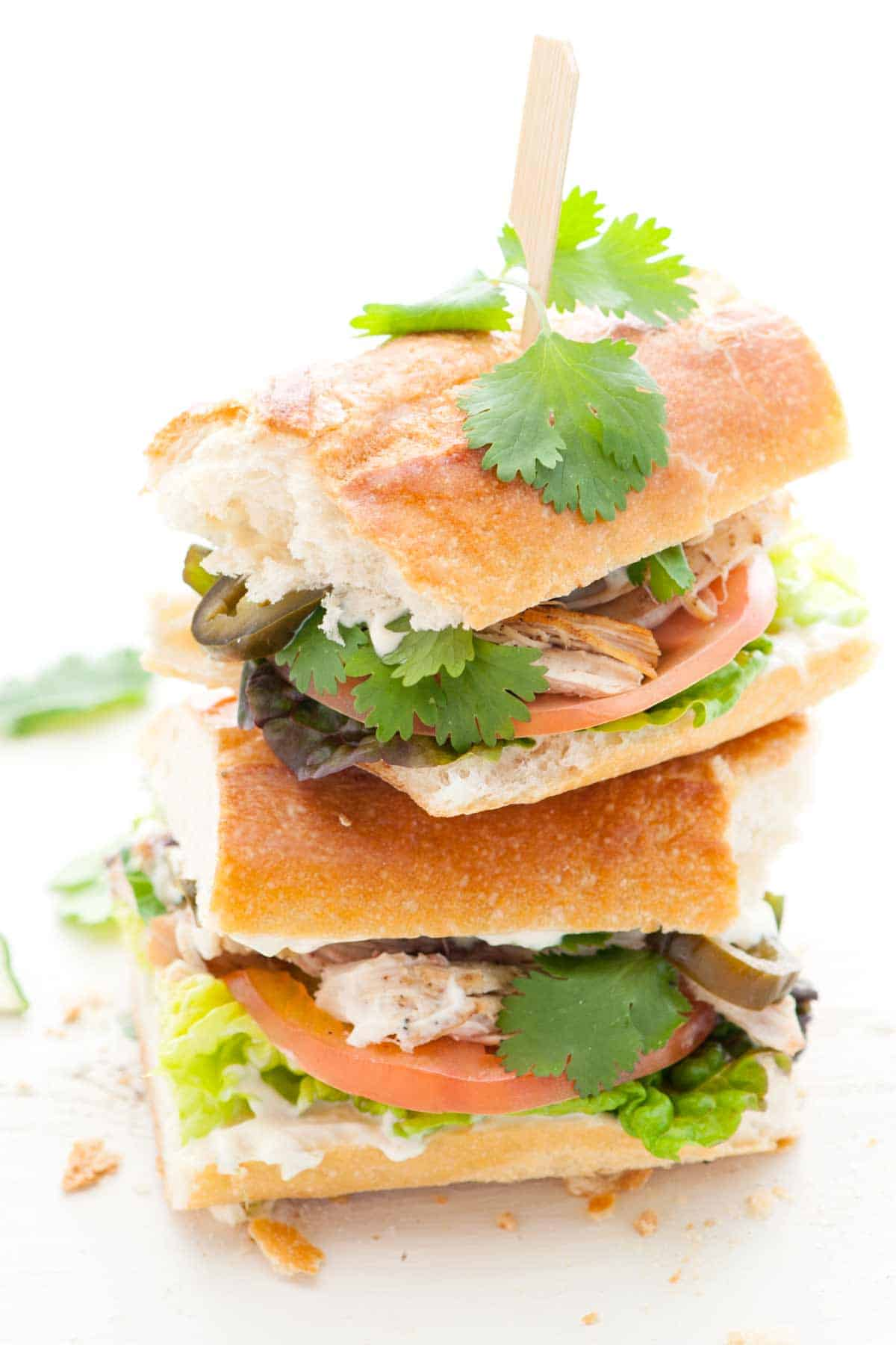 Spicy Chicken Sandwiches with Lime Mayonnaise