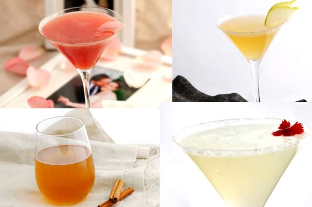 Valentines Recipes - Four Cocktails