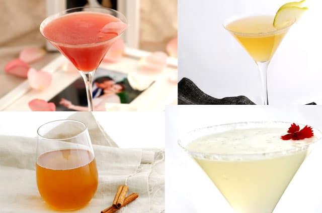 Valentines Recipes - Four Cocktails