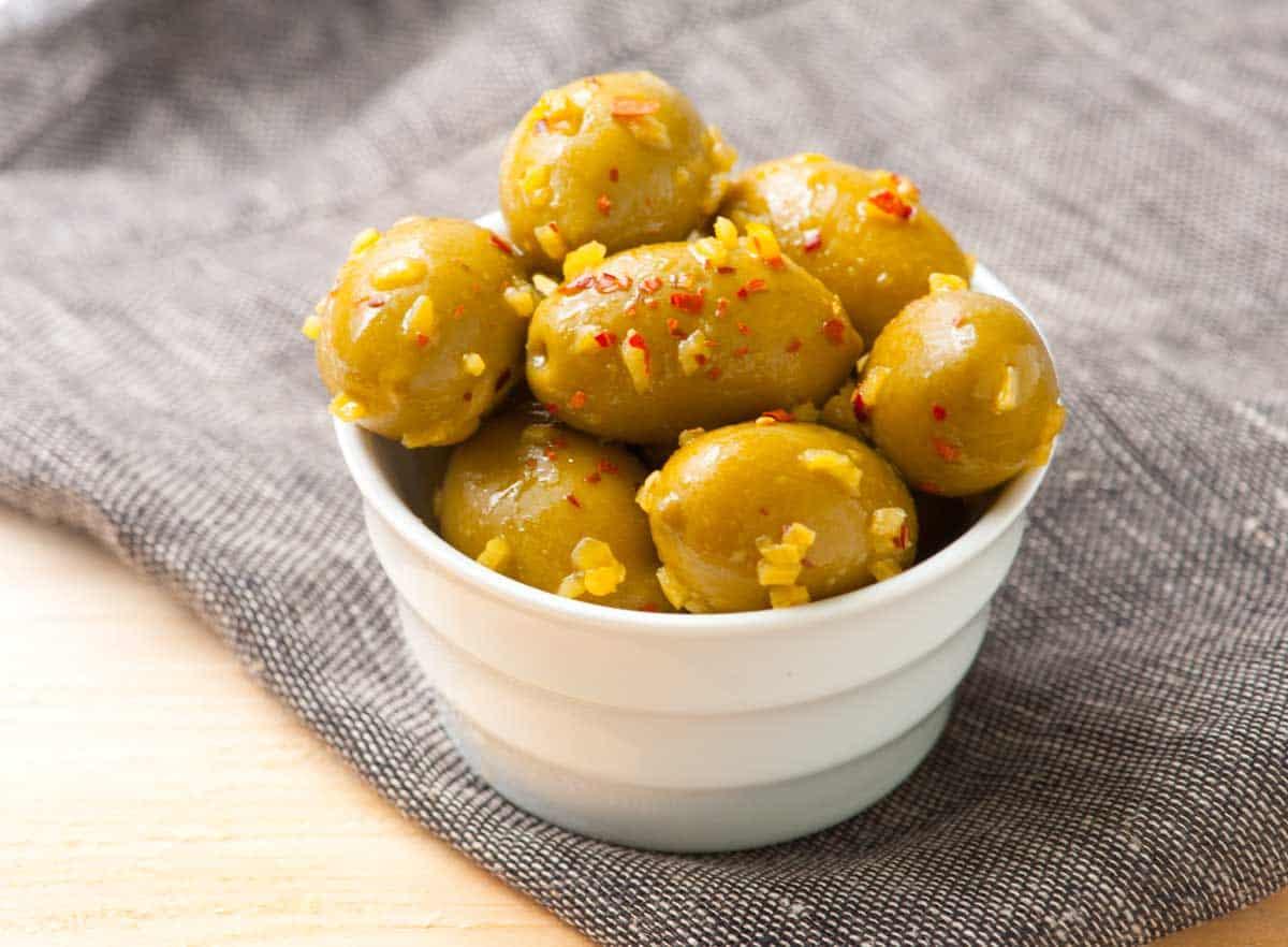 Marinated Olives with Lemon Confit