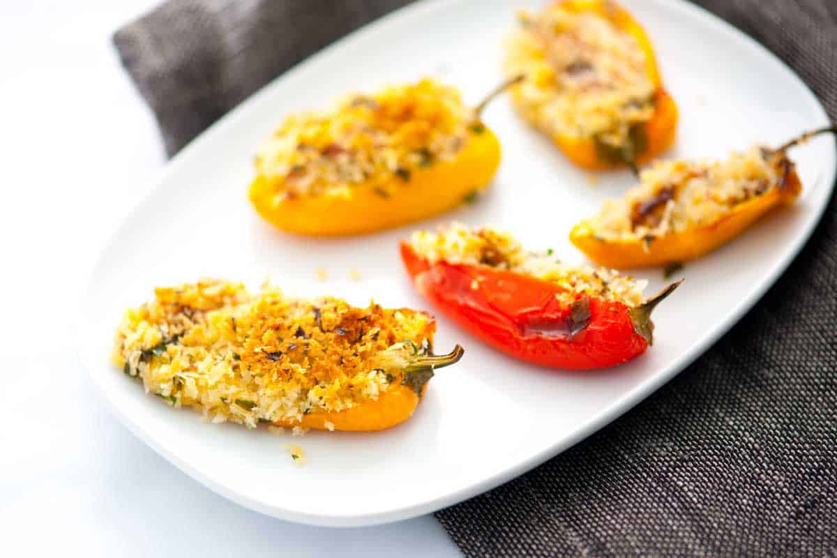 Cheesy Bacon Baked Stuffed Mini Sweet Peppers