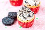 Oreo Stuffed Cupcakes with Nutella Buttercream