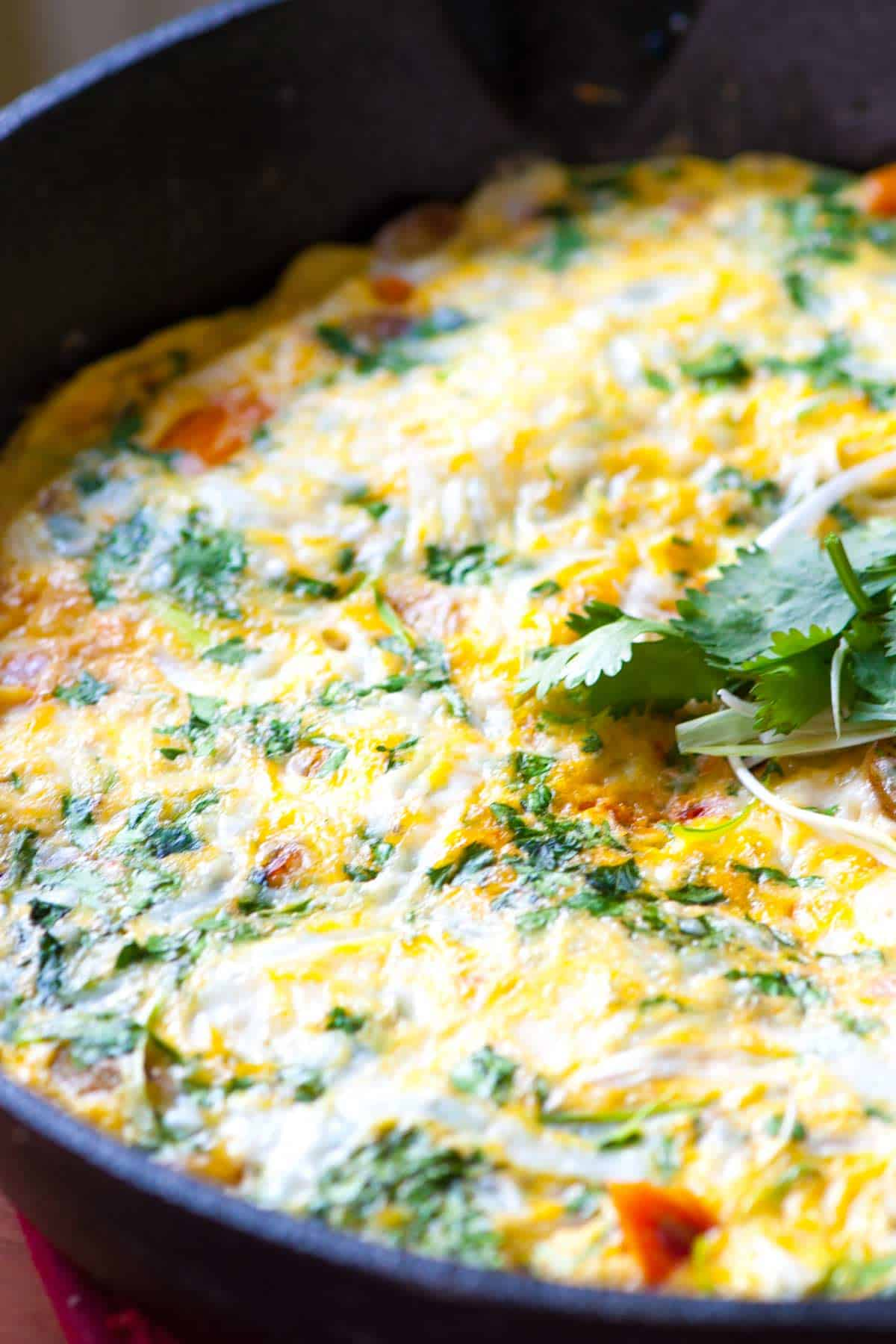 Cheesy Potato Frittata Recipe with Chipotle