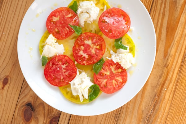 Heirloom Tomato, Mozzarela and Basil Recipe