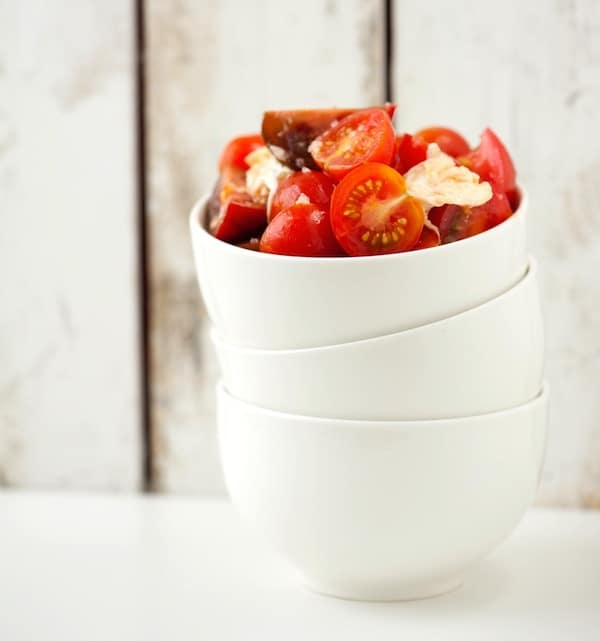 Quick and Easy Tomato and Mozzarella Salad