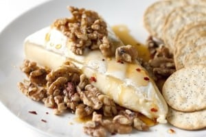 Brie with Spiced Honey and Walnuts Recipe
