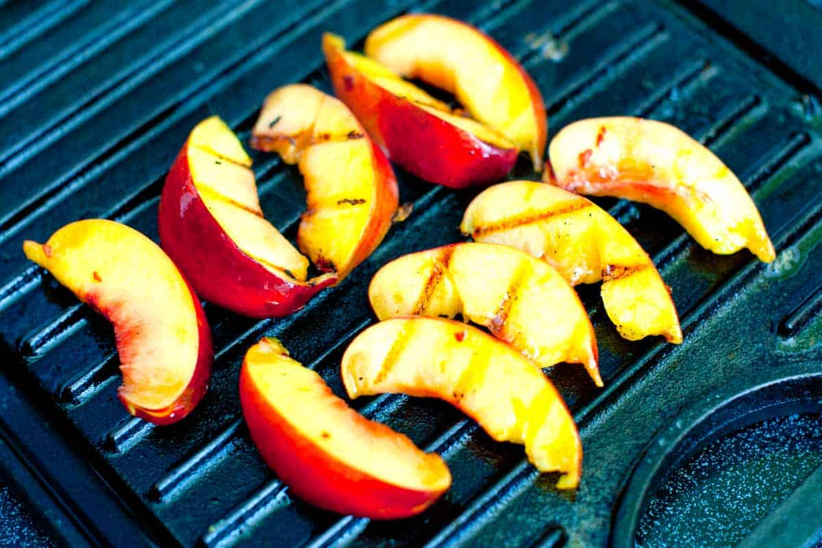Grilling nectarines