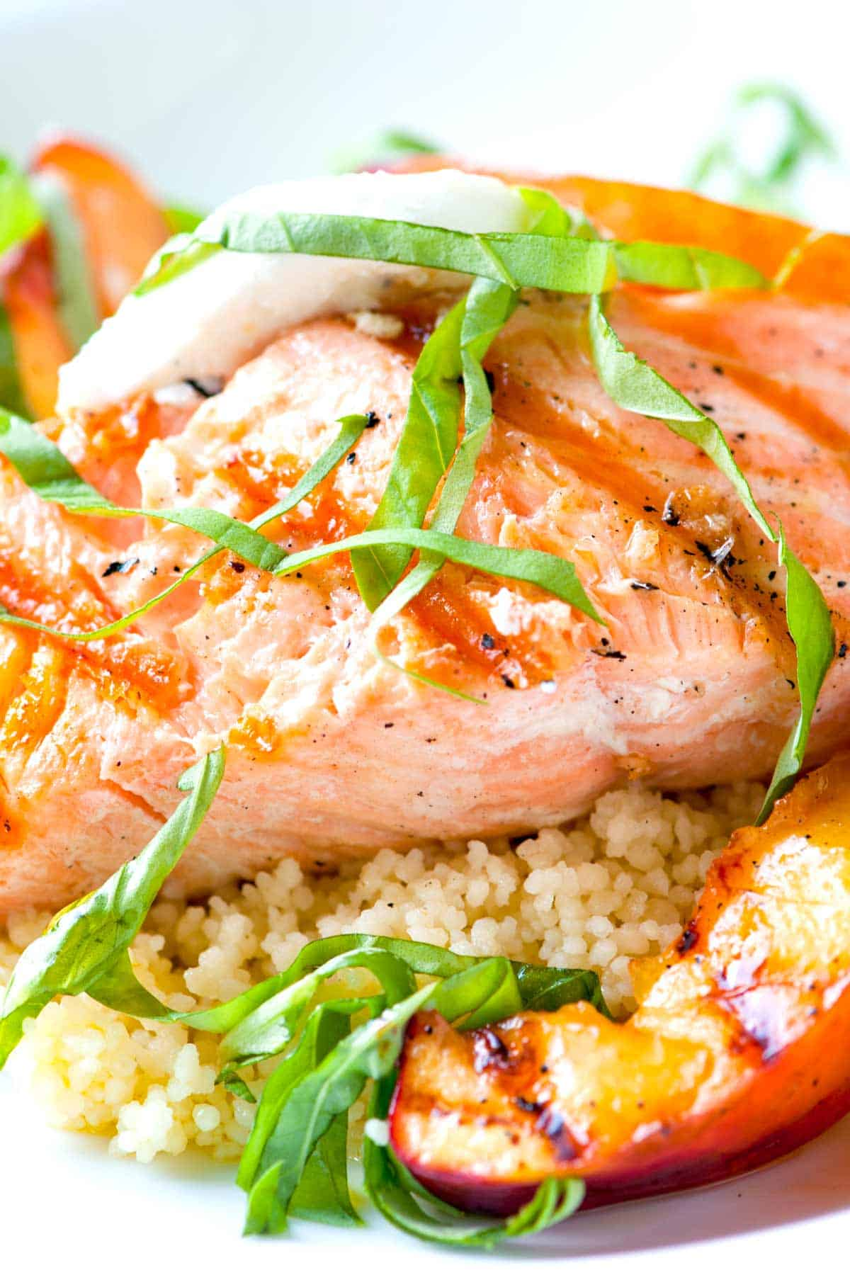 How to Cook Salmon and Nectarines on the Grill