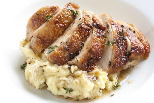 Huhn mit knusprig-gold...
