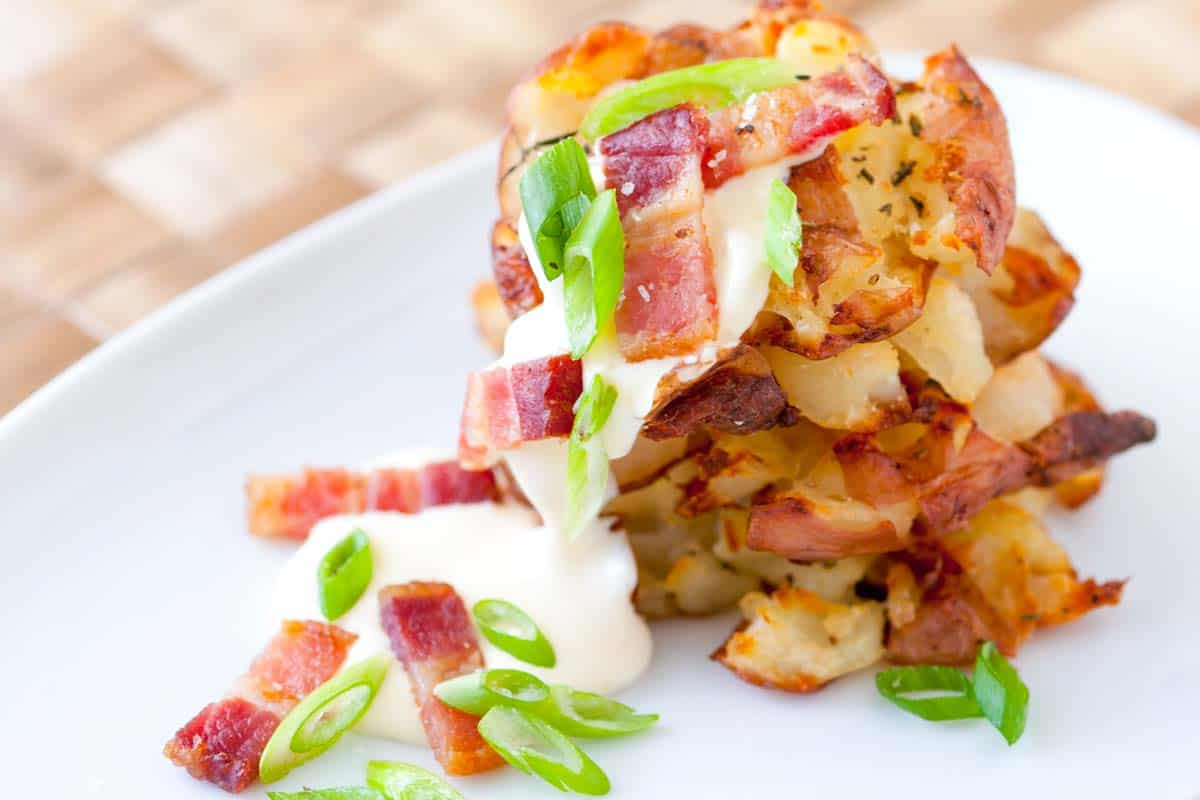 Bacon Roasted Smashed Potatoes Recipe