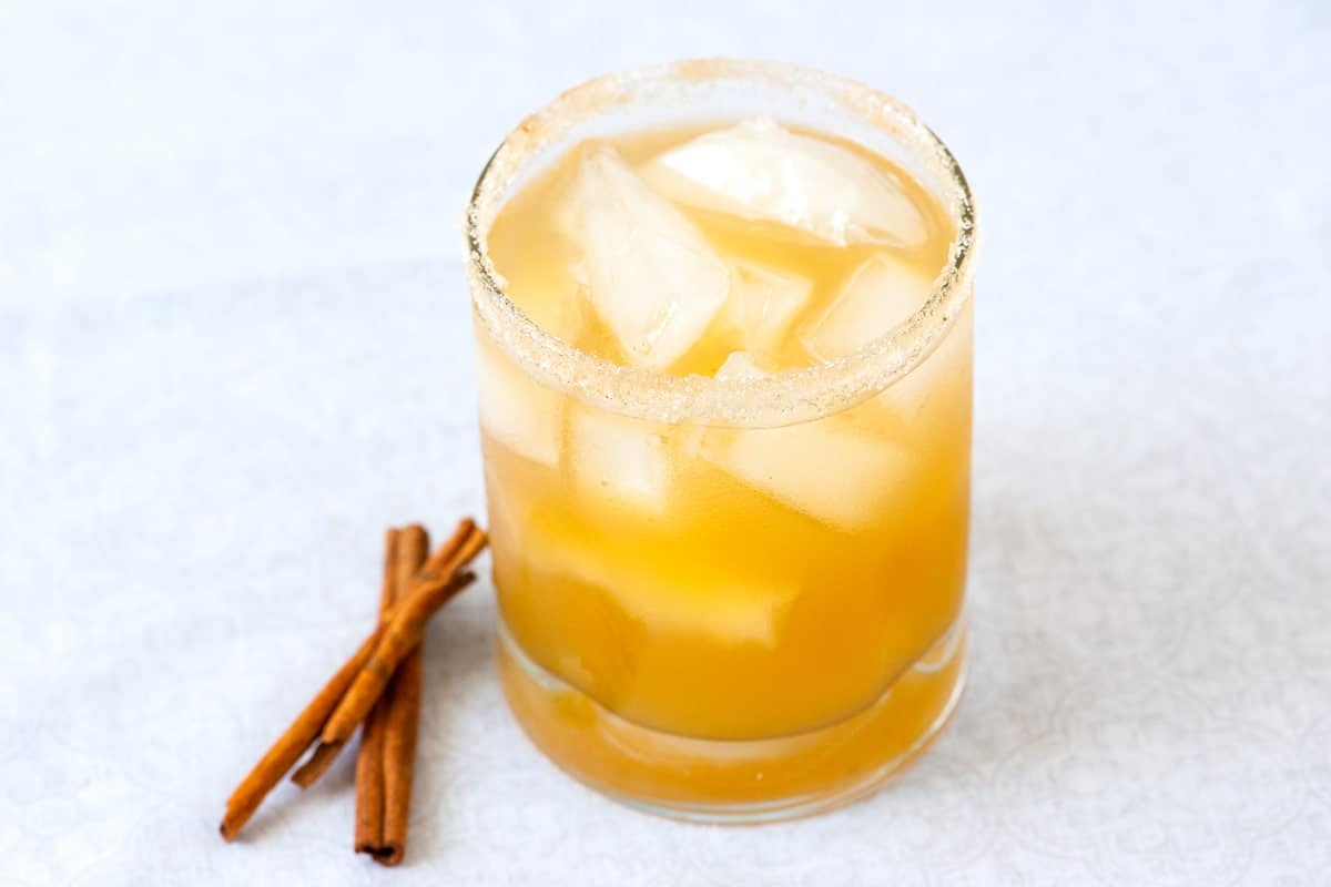 Chilled Spicy Spiked Cider Cocktail