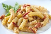 Rigatoni with Sun-Dried Tomatoes and Goat Cheese Recipe