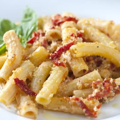Sun-Dried Tomatoes and Goat Cheese Rigatoni Recipe