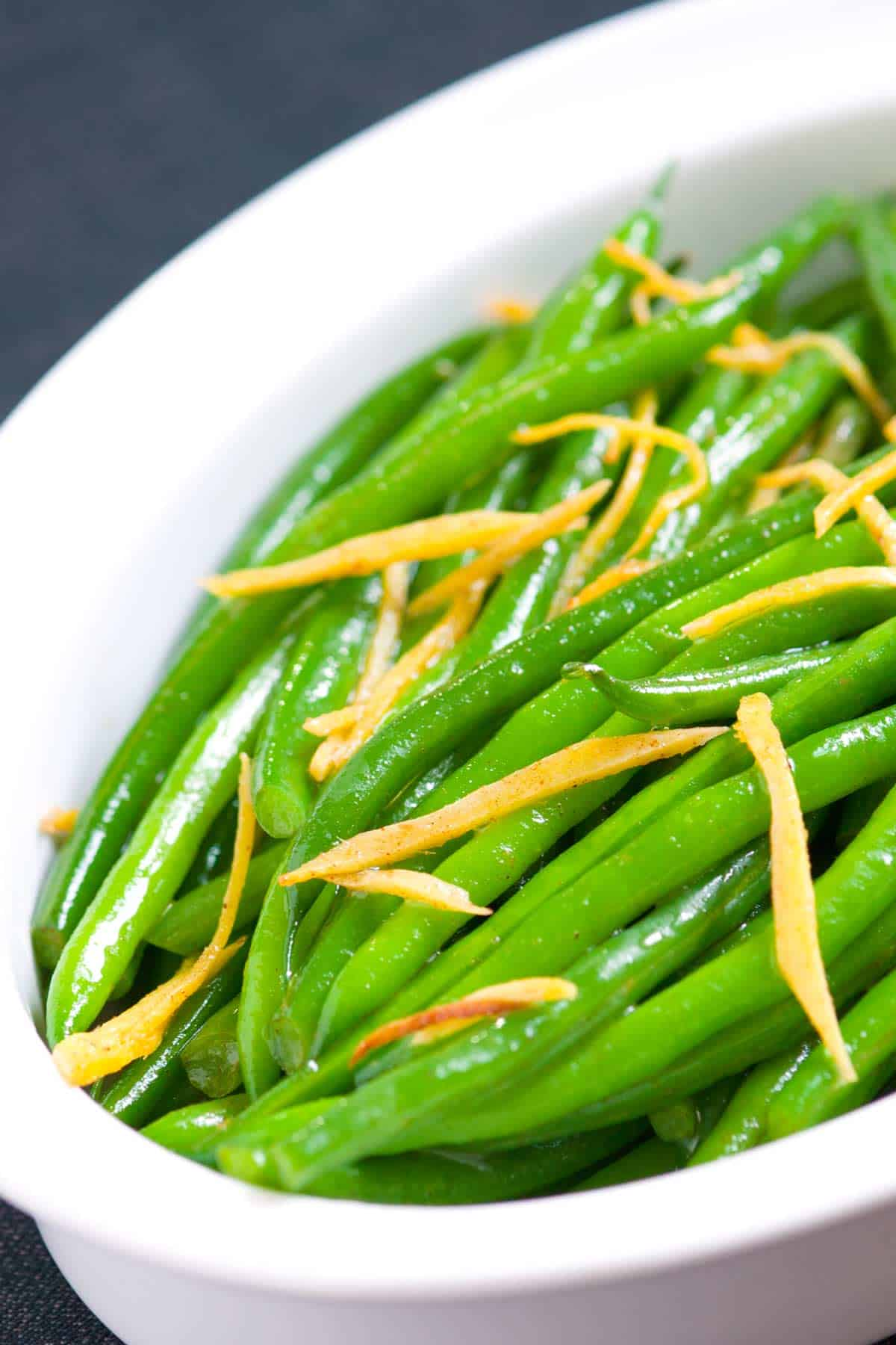 How to Saute Green Beans with Ginger and Butter