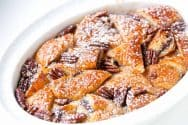 Nutella Croissant Bread Pudding Recipe