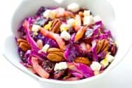 Warm Apple Cabbage Salad Recipe with Pecans