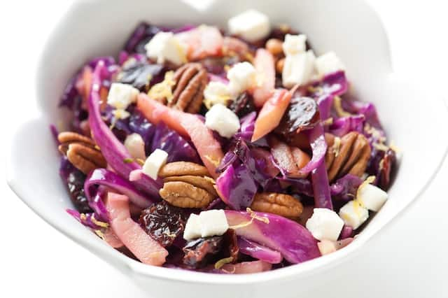 Warm Apple and Cabbage Salad