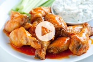 Baked Chicken Hot Wings Recipe Video