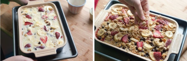 Baked-Oatmeal-with-Strawberries,-Banana-and-Chocolate-Step-1