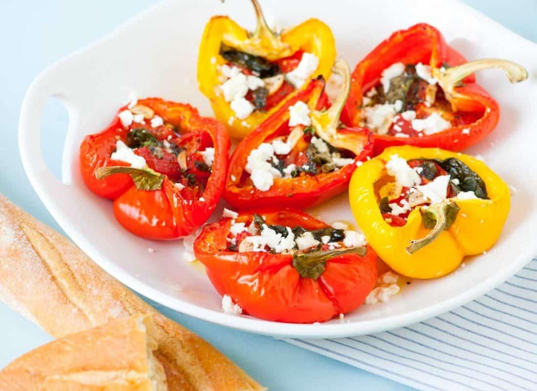 Baked Tomato Basil Stuffed Peppers Recipe
