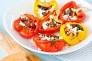 Baked Tomato Basil Stuffed Peppers Recipe