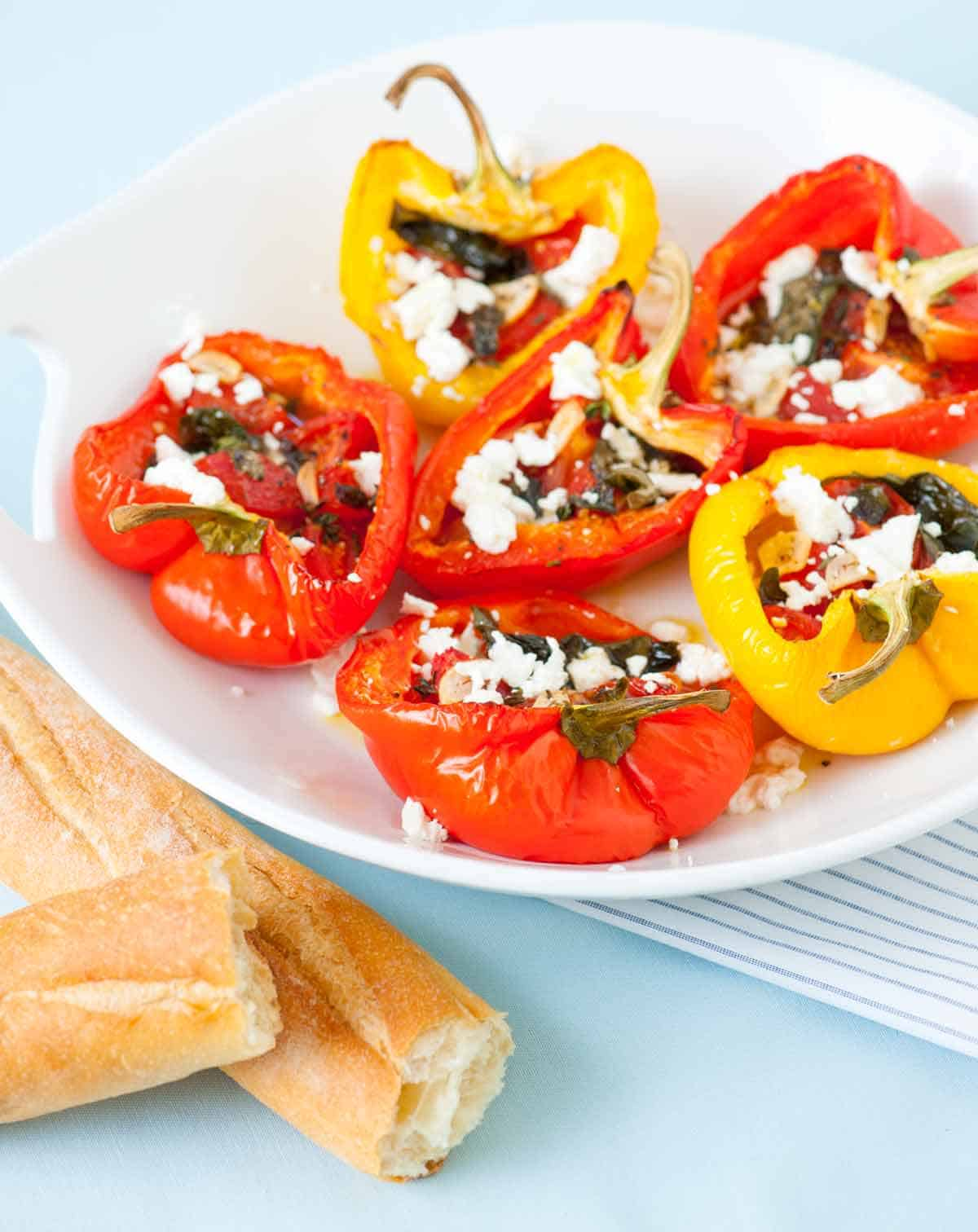 How to Make Tomato Basil Stuffed Bell Peppers