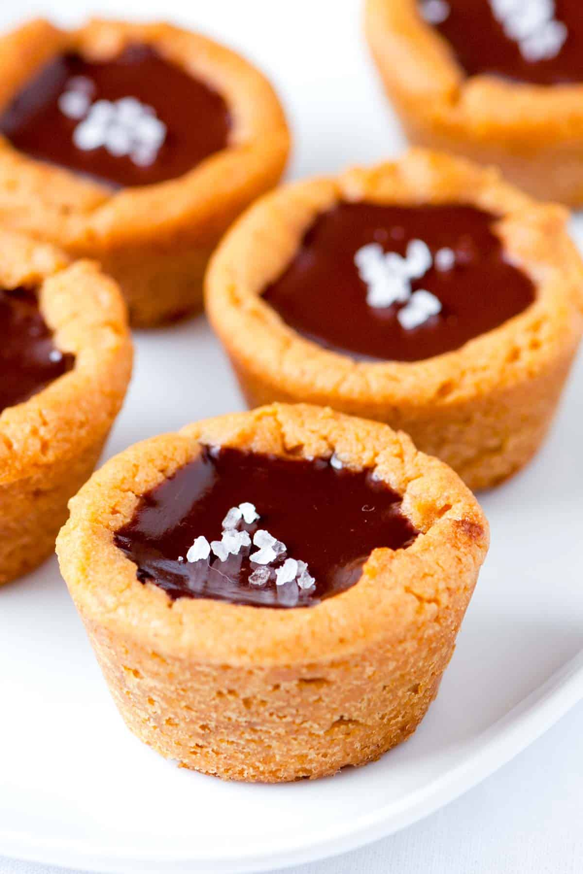 Salted Chocolate Truffle Peanut Butter Cookie Cups