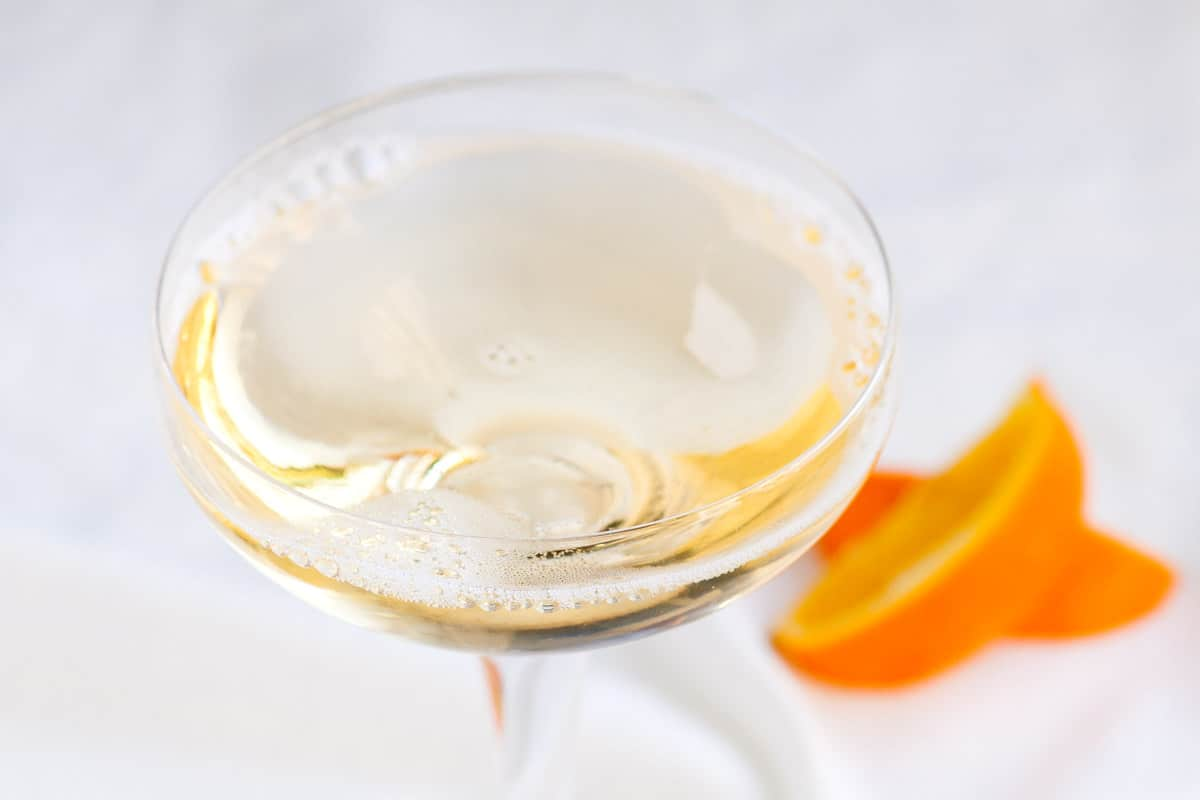 St Germain and Champagne Cocktail